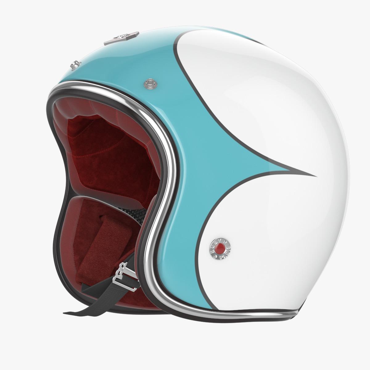 max motorcycles helmet ruby blue