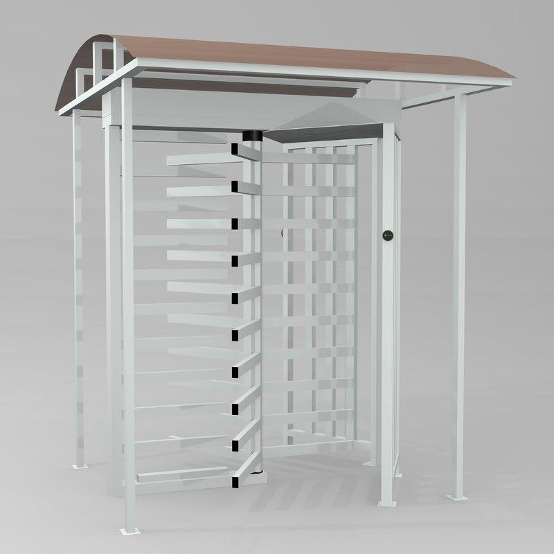 perco rtd-15 turnstile 3d model