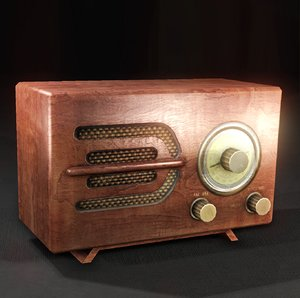 vintage radio 3d 3ds
