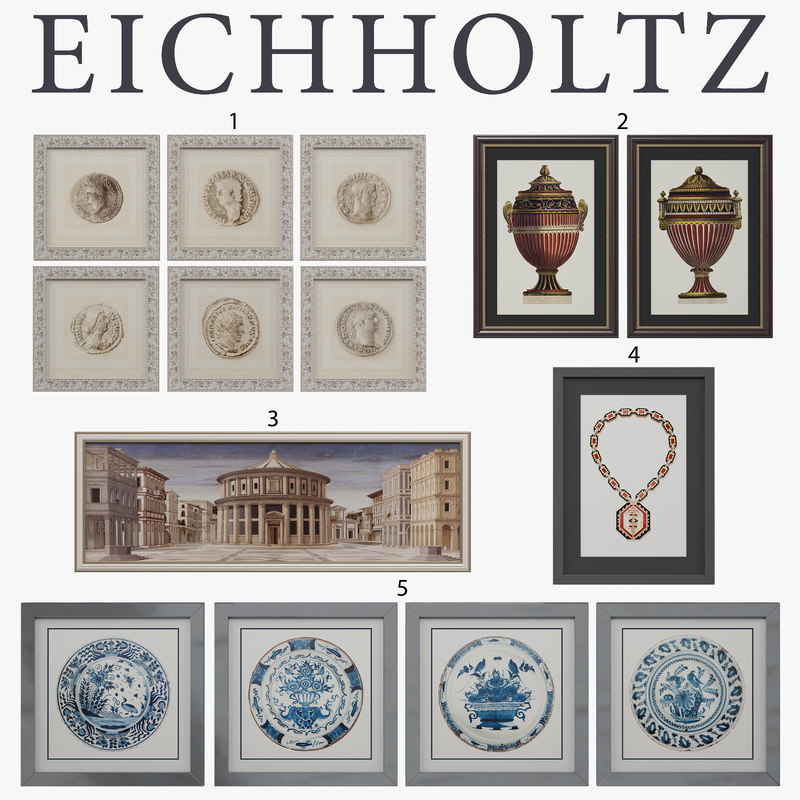 eichholtz prints 3d 3ds