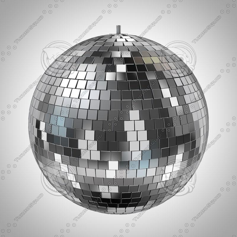 mirrorball discoball disco 3d model