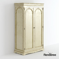 Victorian wardrobe cupboard battered 12