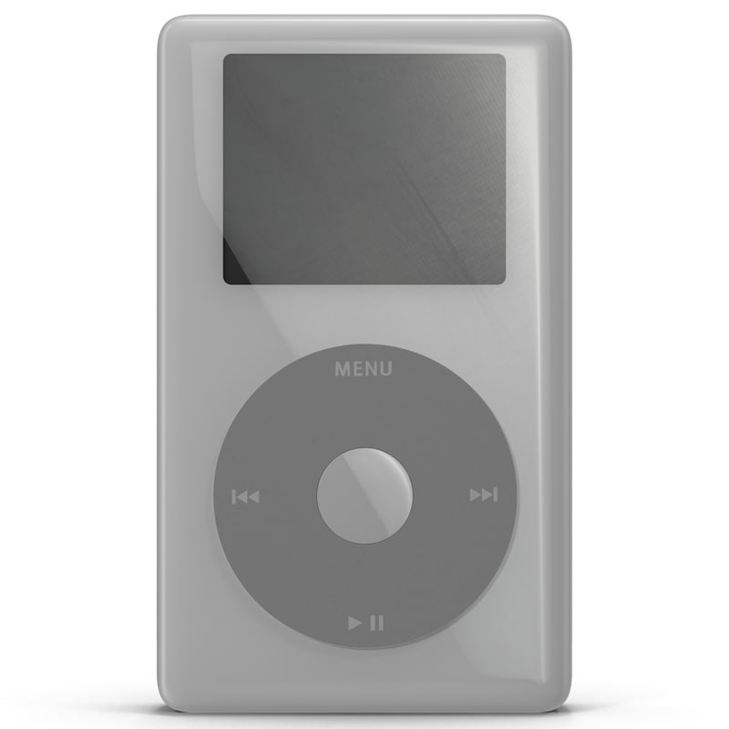 ipod photo modeled 3d model