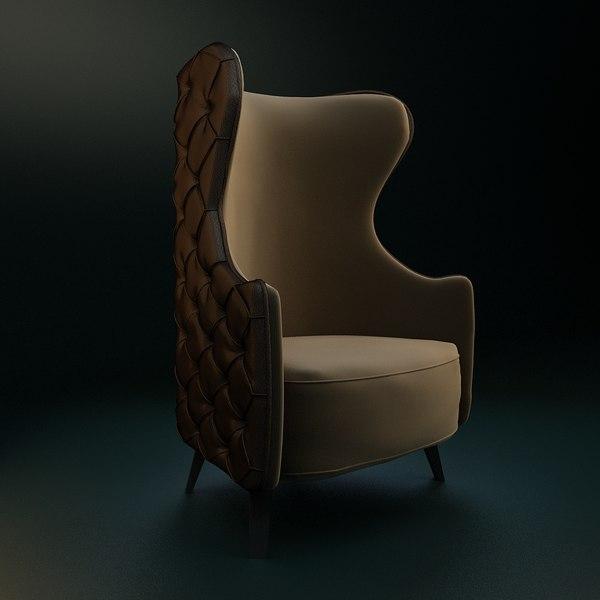 3d model armchairs relaxing