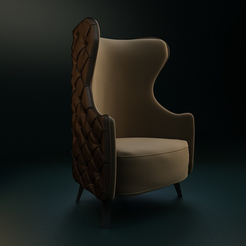 3d model armchairs relaxing