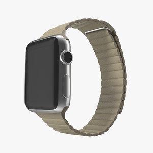 3d apple watch 38mm magnetic model