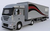 3d box truck model