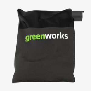 max leaf blower bag horizontal