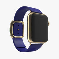 apple watch 38mm gold 3d model