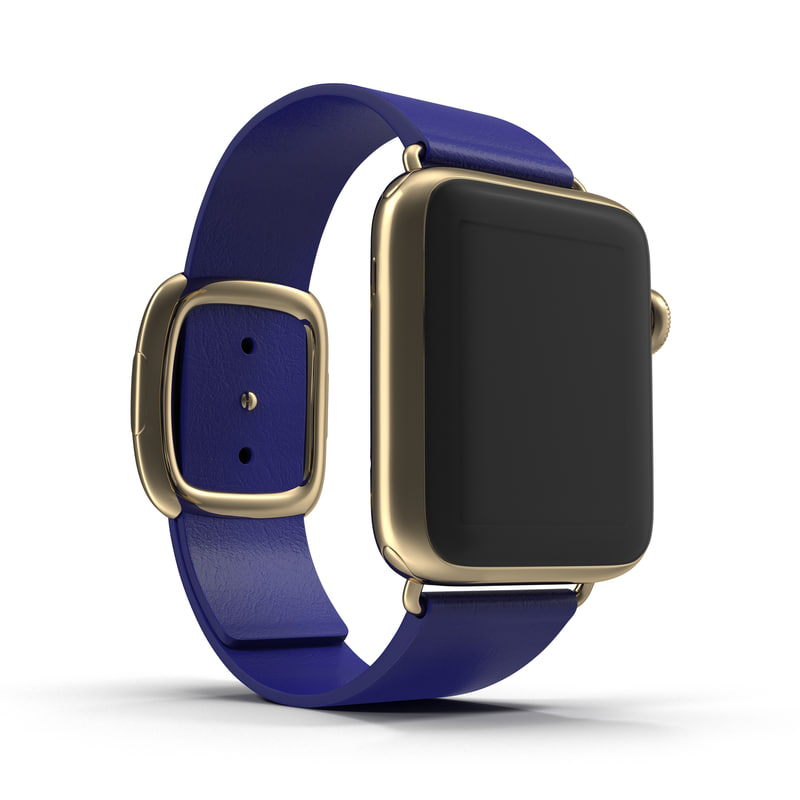 3d model apple watch 38mm gold