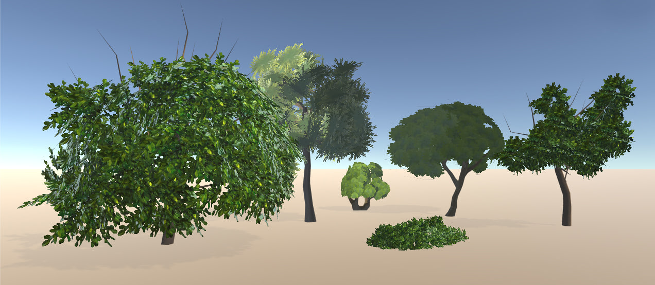 3d model games tree bush