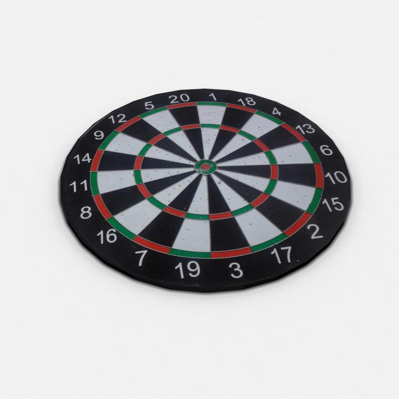 dart board 3d max