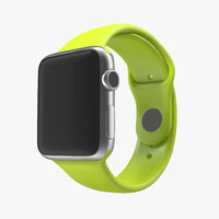 3d model apple watch 38mm fluoroelastomer