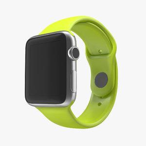 3d model apple watch 38mm fluoroelastomer