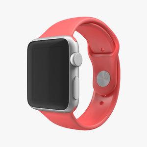 3d apple watch 38mm fluoroelastomer model