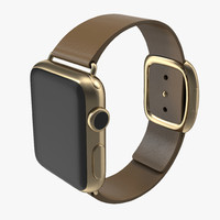 apple watch 38mm gold 3d obj