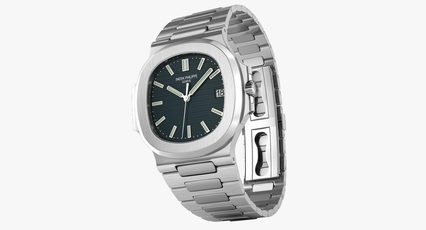 patek nautilus watches 3d max