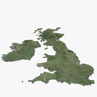 United Kingdom 3d Map