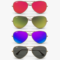 Ray Ban Colored Aviator Sunglasses