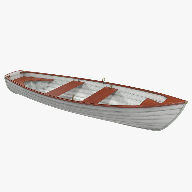 3d model of rowboat 4