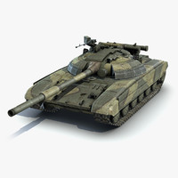 low-poly battle tank t-64 3d max