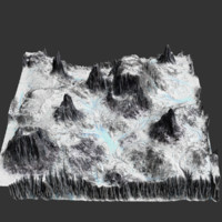 Icey Terrain - Realistic