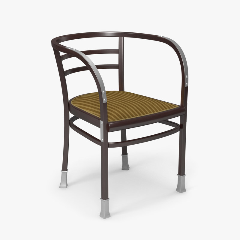 Otto Wagner Armchair Chair 3d X