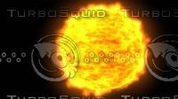 3d sun animation model