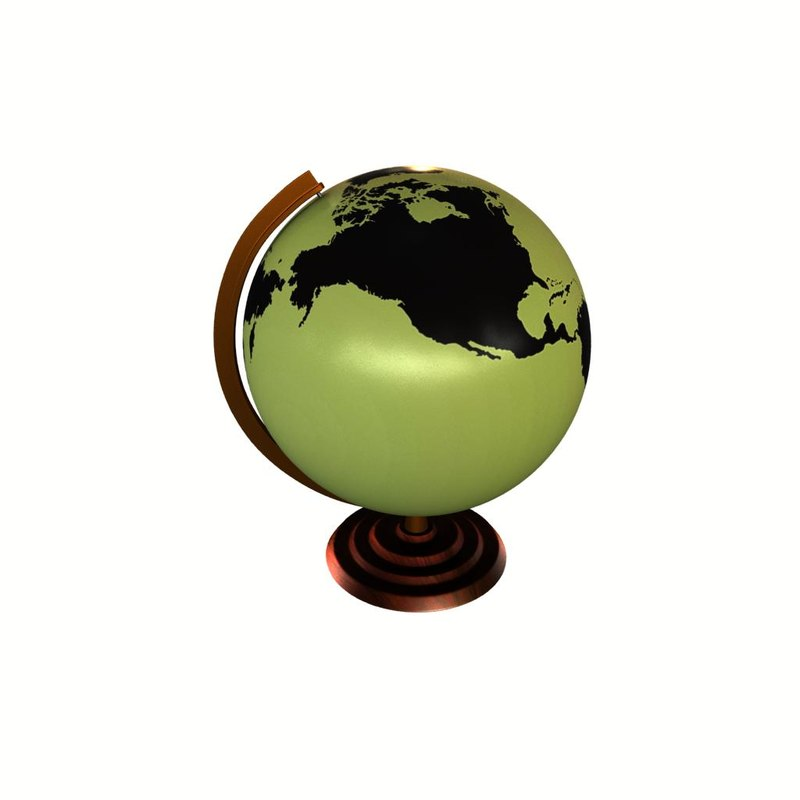 3d model globe maps