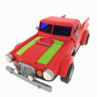 Cartoon Racing Pickup Truck