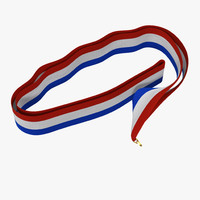 3d model of medal ribbon 3 modeled