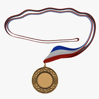 3d award medal 4 bronze model