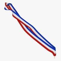 medal ribbon 4 modeled 3d model