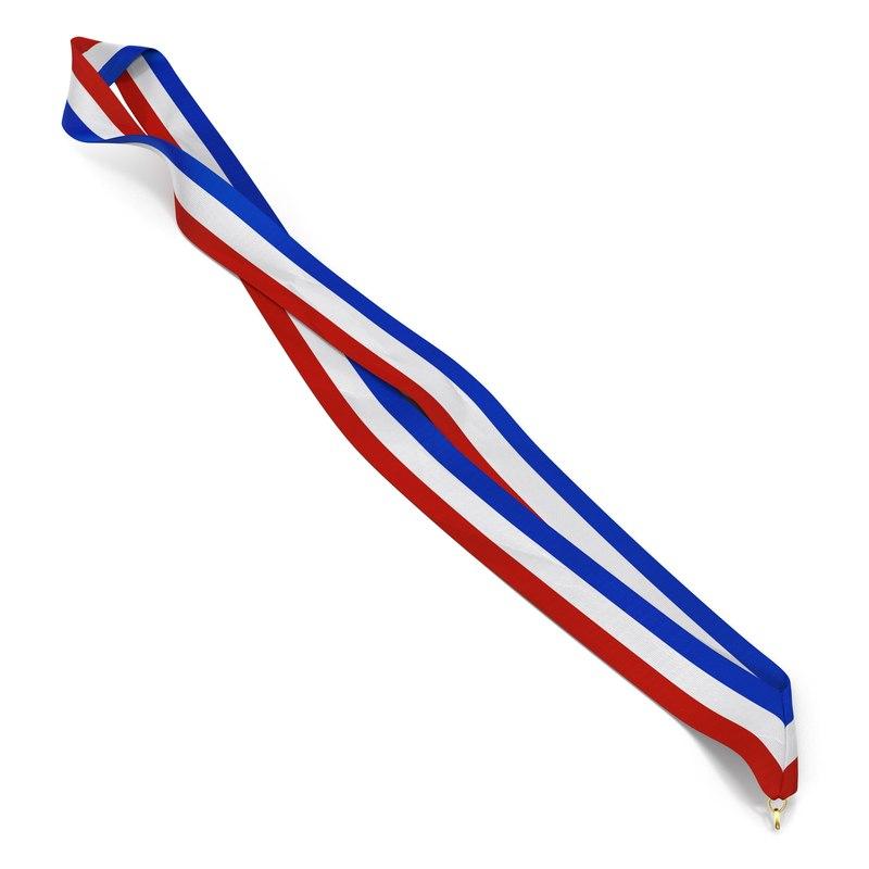medal ribbon 4 modeled 3d model