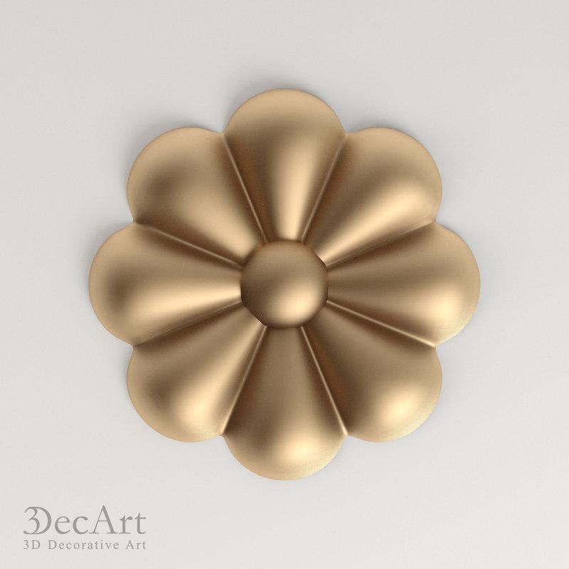 3d model decorative rosette