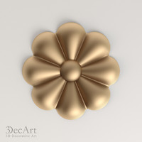 3d model decorative rosette