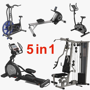 3d exercise equipment modeled bike