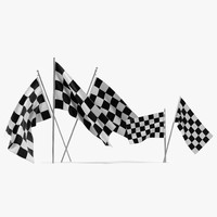 3d racing flags model