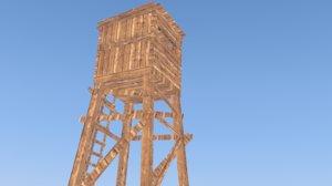 3d observation tower