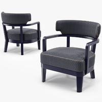 3d model small armchair