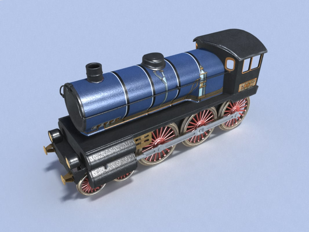 3d model old locomotive toy