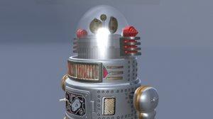 3d vintage robot forbidden planet model