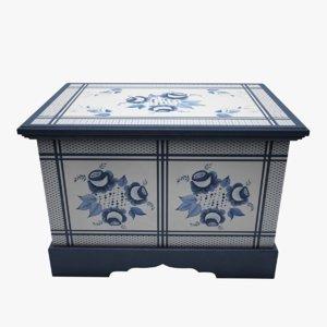 painted box wood max