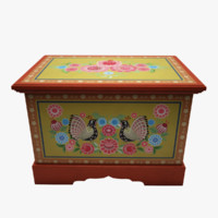 3d model of painted box