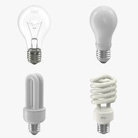 light bulbs modeled 3d x