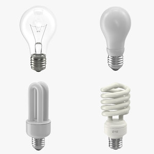 light bulbs modeled 3d x