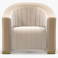 3ds max munna louise armchair