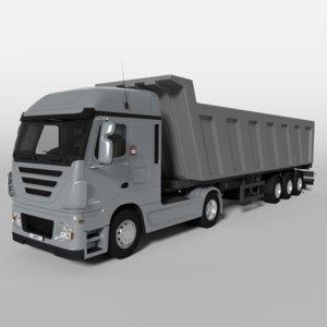 3d model tipping truck