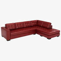 red leather sofa 3d max