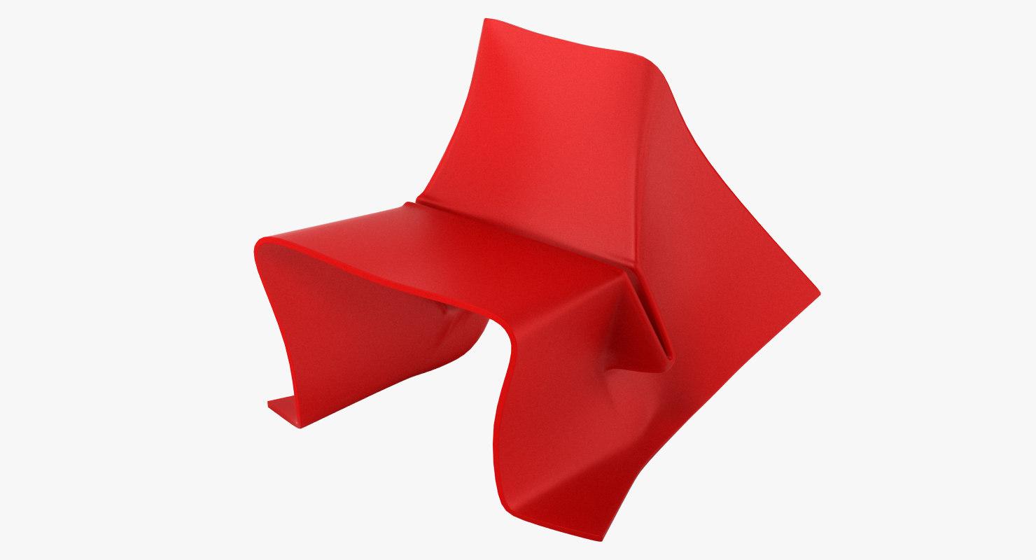 3d foldchair realistic